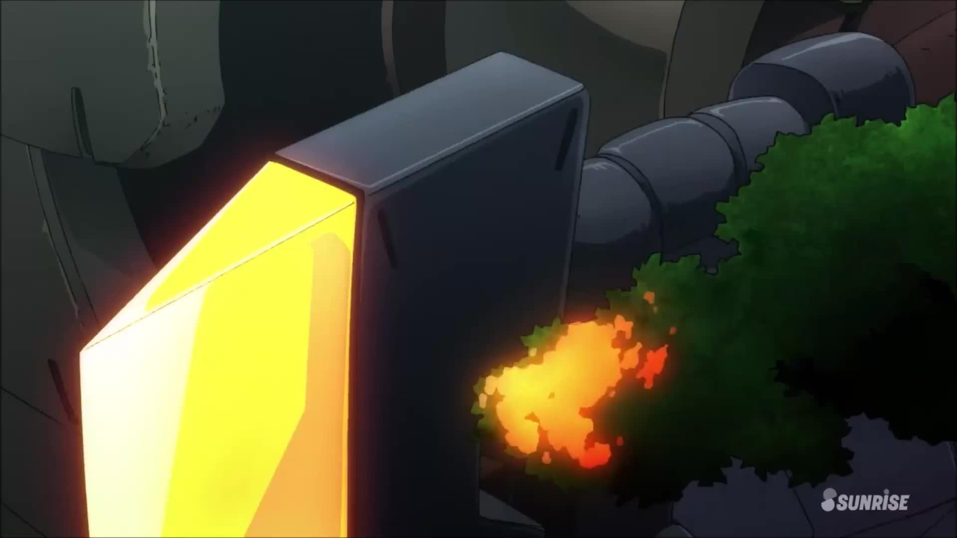 anime, animefunny, gundam, look at these Acguys arent they cute? [Gundam thunderbolt] GIFs