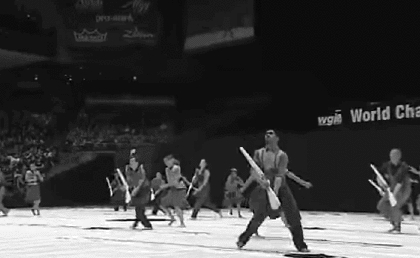 DCI, Drum Corp International, band, black and white, cgi, colorguard, dance, drumcorp, elegant, gif, guard, highschool, marching, marching band, rifle, wgi, winterguard,  GIFs
