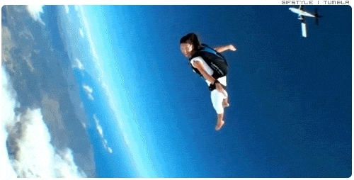 freedom, gif, gopro, noshoe, relax, skydive, skydivechick, skydiver, skydiving, Skydiving GIFs