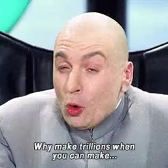 Watch one million dollars dr evil GIF on Gfycat. Discover more Mike Myers GIFs on Gfycat