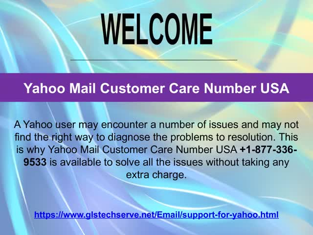 Yahoo Mail Customer Support Number +1-877-336-9533 GIF by