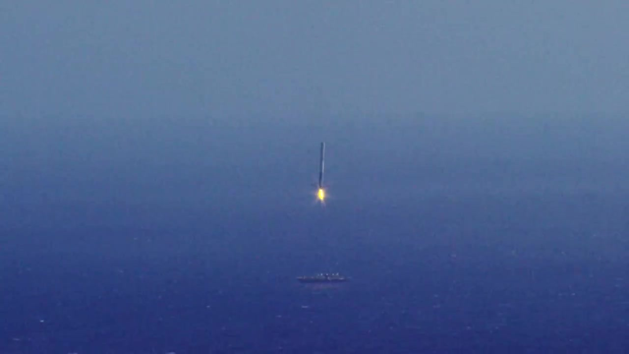 SpaceGfys, space, spacex, Second landing attempt of Falcon 9 GIFs
