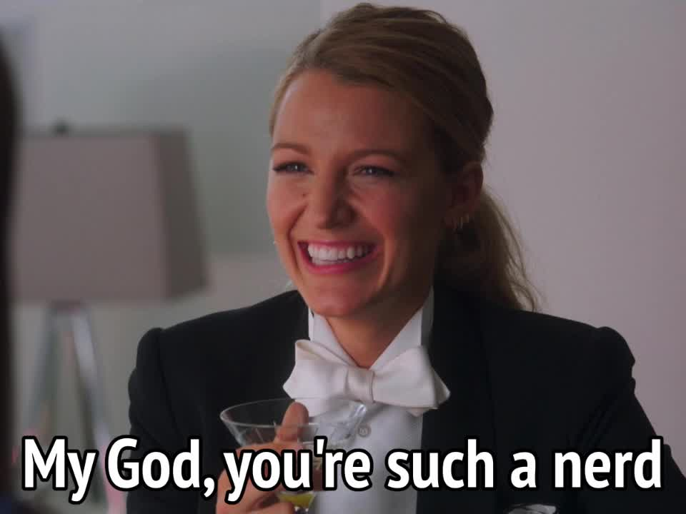 a simple favor, blake lively, geek, nerd, A Simple Favor - My God, you're such a nerd GIFs