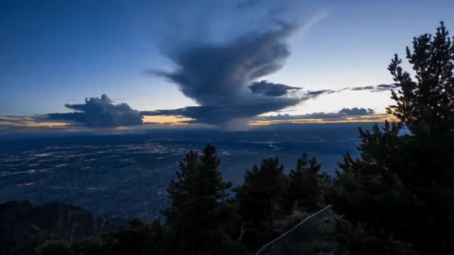 Watch and share Sunset Thunderstorm Over Albuquerque, NM GIFs on Gfycat