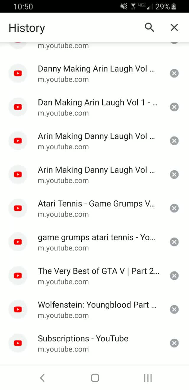 """Watch and share Youtube's """"Algorithm"""" At Work. Left My Phone Untouched For 5 Hours While Watching Movies, Came Back, And Discovered This Insanity. GIFs on Gfycat"""