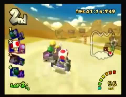 Watch and share Mario Kart Double Dash!! - Mushroom Cup: Dry Dry Desert (150cc) (4/4) (Final) GIFs on Gfycat