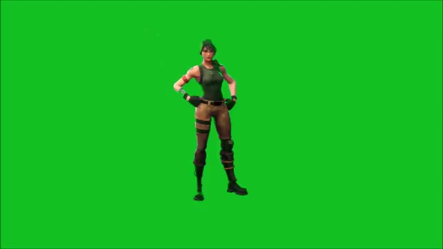 Watch and share Basic Fortnite Dance - Greenscreen.mp4 GIFs on Gfycat