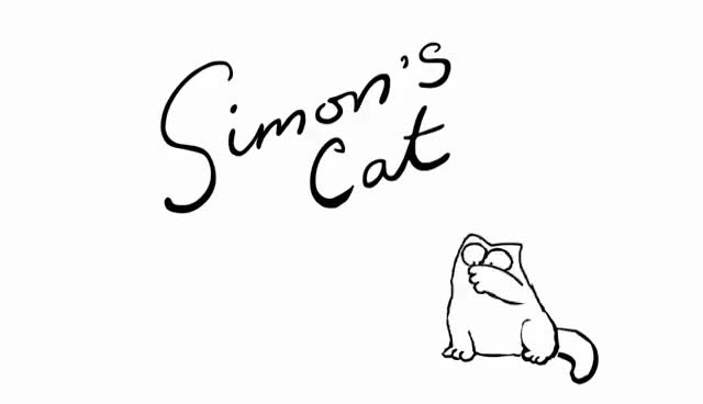 Watch and share Cat & Mouse - Simon's Cat GIFs on Gfycat
