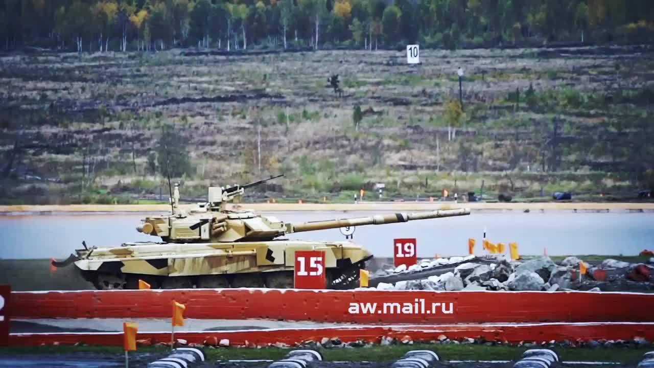 MilitaryGfys, tank, RAE-2015 T-90 jump&shoot GIFs