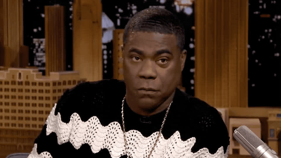 angry, annoyed, at, bobcat, bored, comment, confused, disappointed, furious, idea, look, mad, me, morgan, no, panther, pissed, serious, tracy, words, Tracy Morgan is mad GIFs
