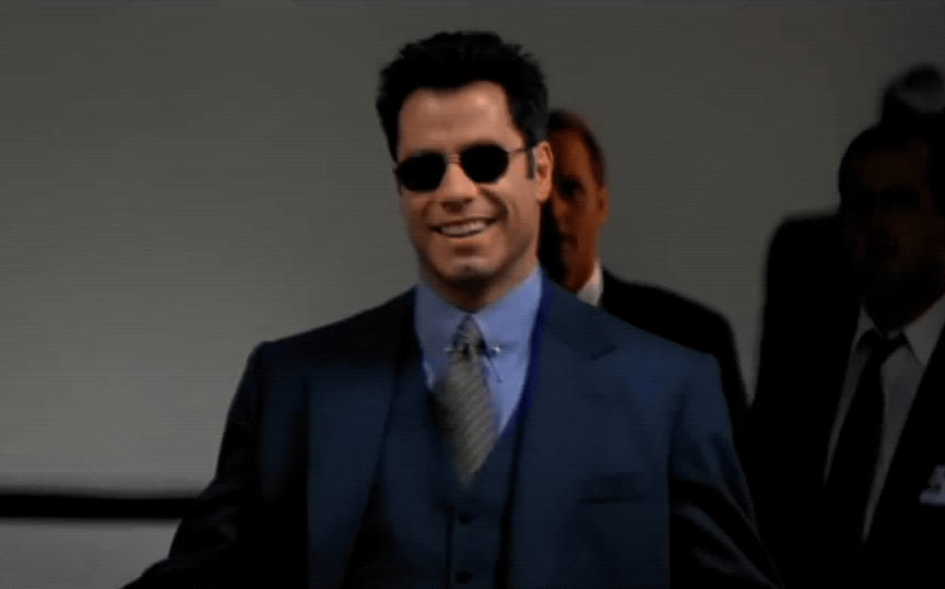 John Travolta, deal with it, face/off, nod, sunglasses, yes, John Travolta - Face/Off GIFs