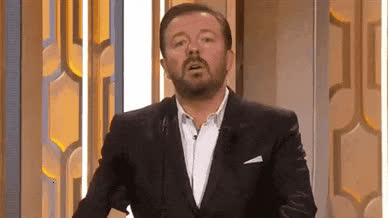annoyed, bitch, disappointed, epic, funny, gervais, globes, golden, golden globes, mad, no, oh, please, presenter, ricky, seriously, way, Seriously !? GIFs