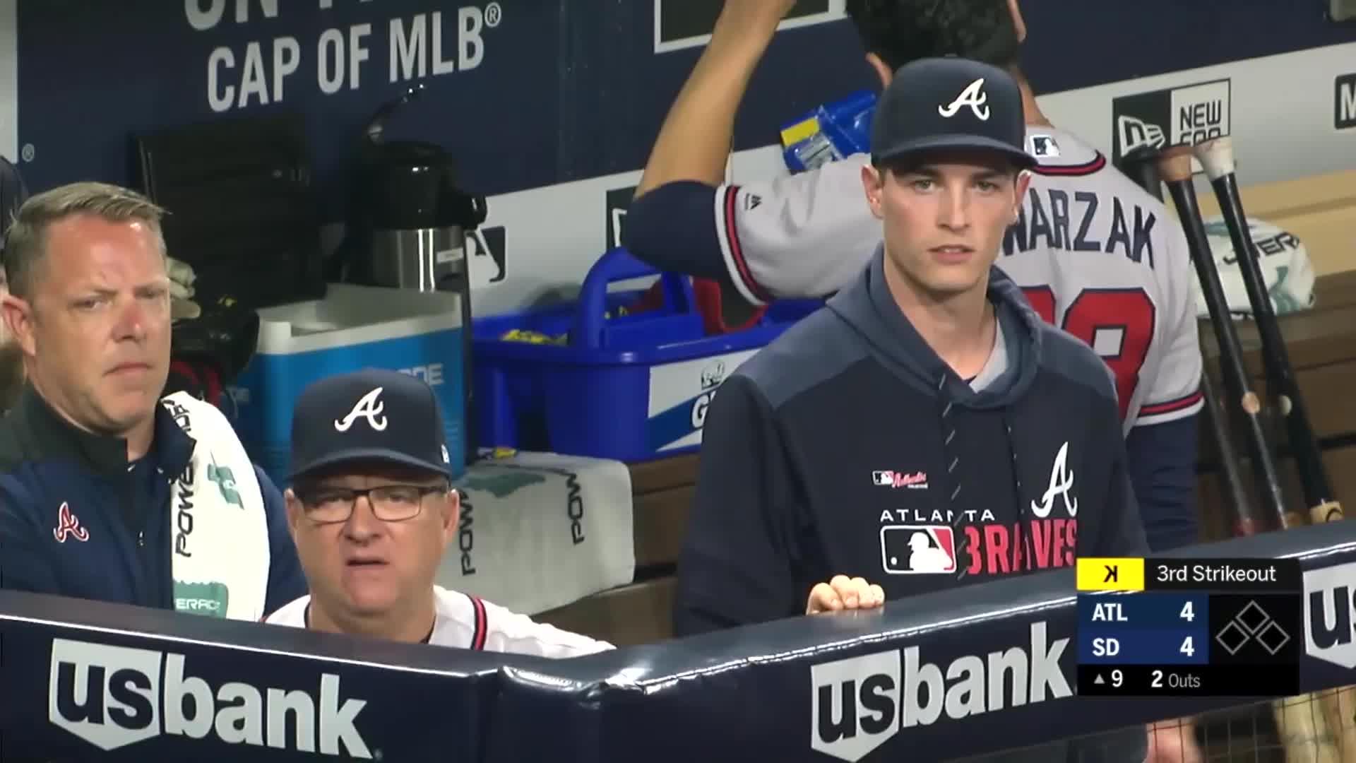 atlanta, atlanta braves, baseball, braves, Max Fried and Kevin Seitzer complain about strike call. GIFs
