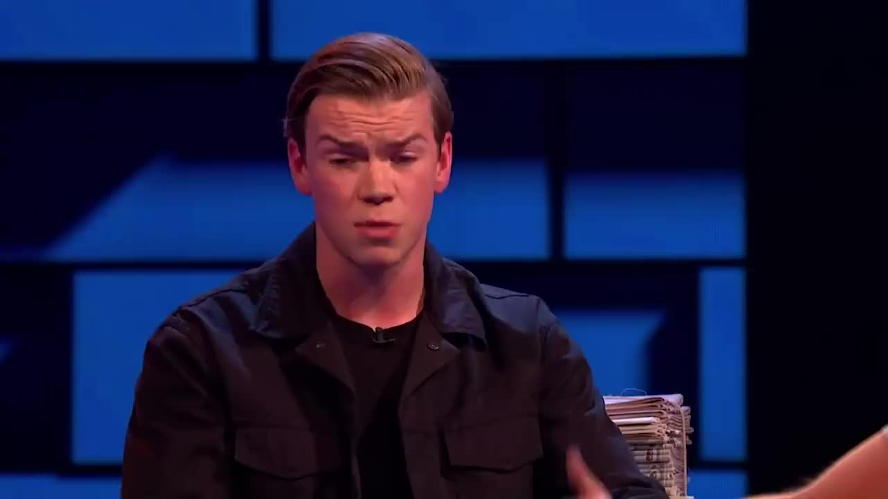 Pennywise, bandersnatch, celebs, detroit, funny, interview, it, news, tennis, will poulter, Russell Interviews Will Poulter - The Russell Howard Hour GIFs