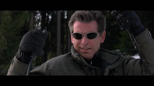 Watch Brosnan sulk GIF on Gfycat. Discover more 1999, Brosnan Bond, Brosnan Sulk, James Bond 007, James Bond Sulk, PB 1999, TWINE, elektra king, pierce brosnan, ski scene, the world is not enough GIFs on Gfycat