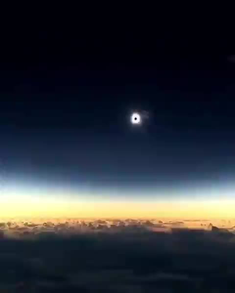 Watch Incredible shot of a solar eclipse captured on an airplane by astronomer Mike Kentrianakis GIF by tothetenthpower (@tothetenthpower) on Gfycat. Discover more related GIFs on Gfycat