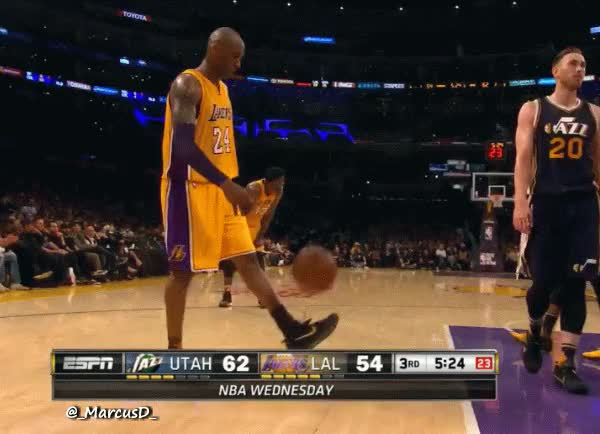 Watch and share Kobe Bryant Showing Off His Soccer Skills. GIFs by MarcusD on Gfycat