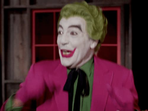 applause, celebrate, clap, excited, happy, joker, laugh, lol, loud oh, out, party, smile, Joker is so happy GIFs