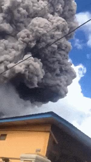Watch Volcano Eruption in Indonesia GIF on Gfycat. Discover more related GIFs on Gfycat