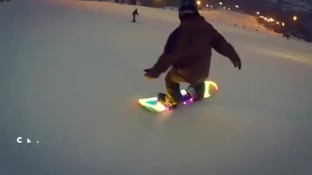 Watch and share LED Snowboard GIFs on Gfycat