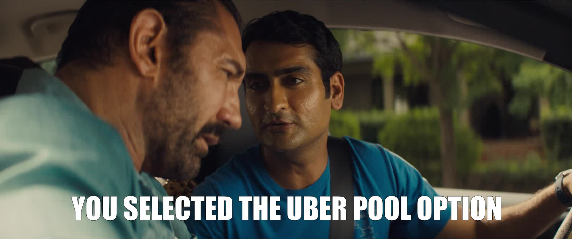 dave bautista, kumail nanjiani, stuber, stuber movie, uber, Uber Pool Option GIFs