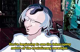 Watch Pop Philosophy GIF on Gfycat. Discover more *, Eamonn Healy, culture, evolution, human society, intellectual, movies, scientist, t: gifset, waking life GIFs on Gfycat