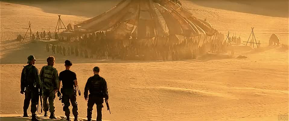 Meeting the natives [Stargate, 1994] : Cinemagraphs GIFs