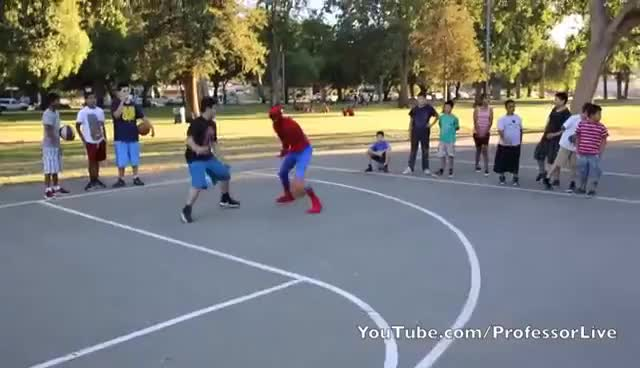 Watch Spiderman Basketball Part 1 GIF on Gfycat. Discover more related GIFs on Gfycat