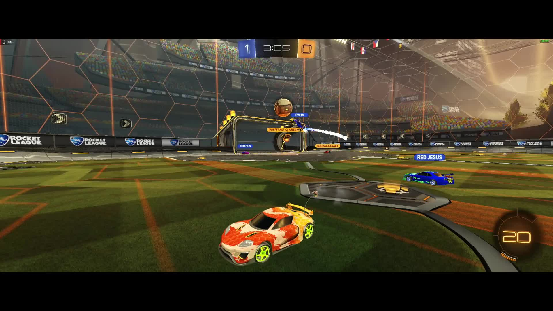RocketLeague, mobius with the save! GIFs