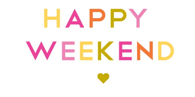 Watch and share Happy Weekend Colorful Text Graphic. GIFs on Gfycat