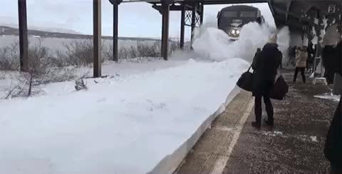 Watch Snow Blast From Train GIF on Gfycat. Discover more gifs2, move, voat GIFs on Gfycat