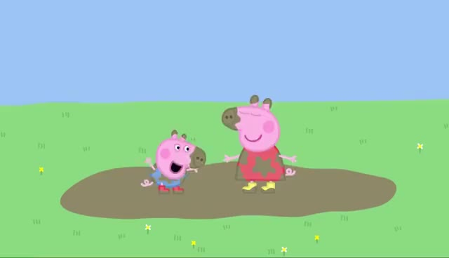 Watch Peppa and George Muddy Puddles GIF on Gfycat. Discover more related GIFs on Gfycat