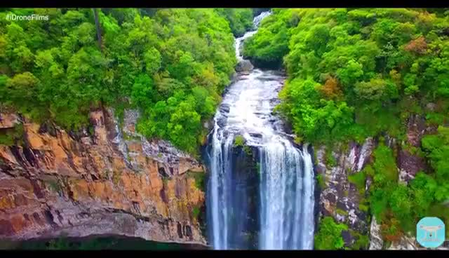 Watch and share | 4K ULTRA HD | Waterfalls Parque Do Caracol, South Of Brazil - Canela City. GIFs on Gfycat