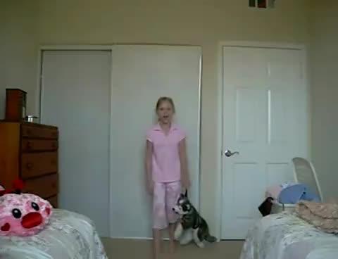 Girl Hit By Closet Door