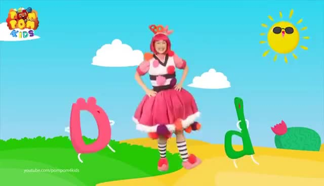 Watch Letter D | ABC Alphabet Song | POMPOM Band & Anna | POMPOM4kids Song GIF on Gfycat. Discover more related GIFs on Gfycat