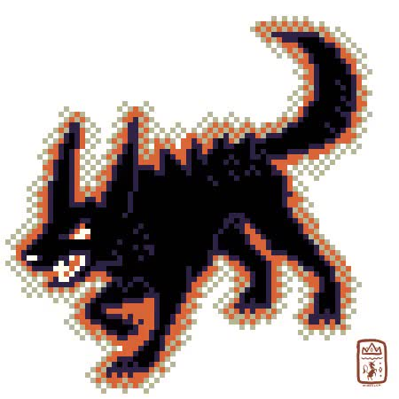 Watch {} Bark Bark Grrrowl!!please do not use or redistribute this GIF on Gfycat. Discover more black, black dog, canine, ciphir, gif warning, hell hound, hound, pixel art, pixels, spectre, sprites GIFs on Gfycat