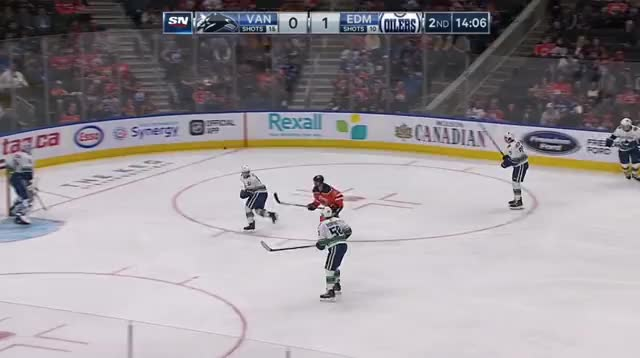 Watch and share Vancouver Canucks GIFs and Edmonton Oilers GIFs by cultofhockey on Gfycat
