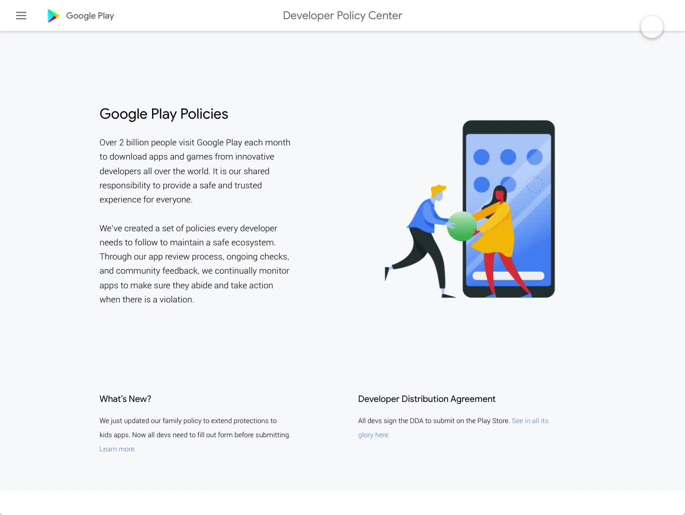 Google Developer Policy Center
