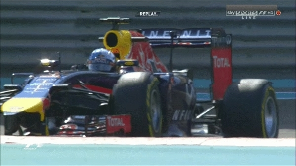 formula1gifs, 2014 - Vettel launches into the air in FP1. (reddit) GIFs