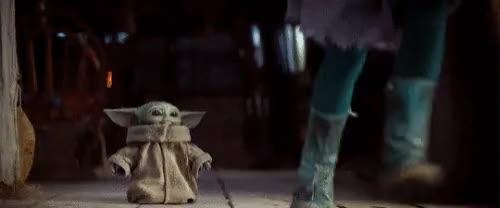 Watch and share Baby Yoda GIFs by Shelly StarZZ on Gfycat