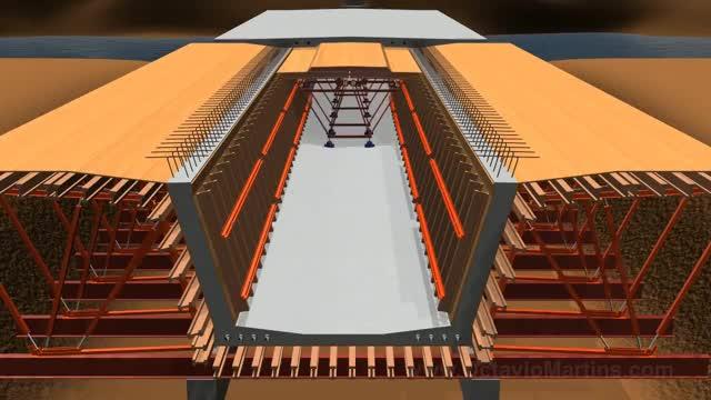 Watch Bridge construction - Incremental Launching - 3D Animation GIF on Gfycat. Discover more 3dsmax, Bridge, Incremental, Launching, amento, constru, construction, lan GIFs on Gfycat