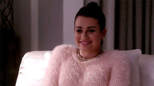 Lea Michele, awkward, blush, blushing, embarrassed, scream queens, shy, Lea Michele Blushing GIFs