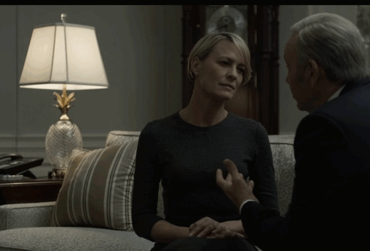 Kevin Spacey, Robin Wright, claire, houseofcards, smile, Claire smile GIFs
