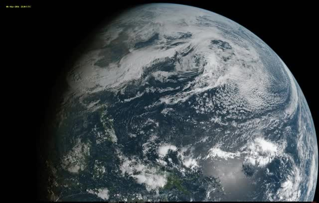 Watch and share Full-Disk Color Image Of 9 March Eclipse From Himawari-8 GIFs by mossberg91 on Gfycat