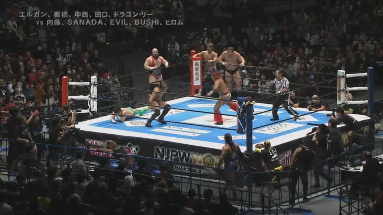 CMLL, Dragon Lee, NJPW, Dragon Lee with a magnificent, risky dive [NJPW] GIFs