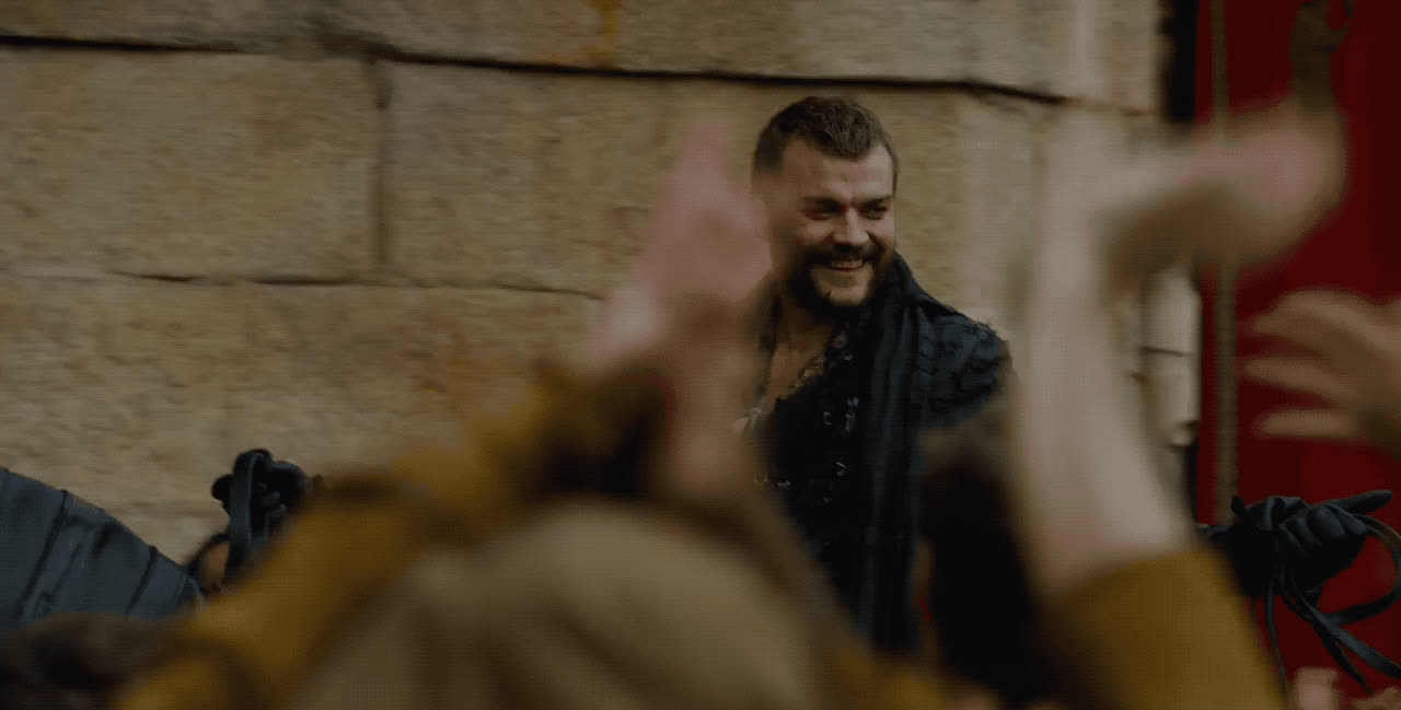 arrival, game of thrones, happy, horseback, return, smile, Game of Thrones - Happy Return GIFs