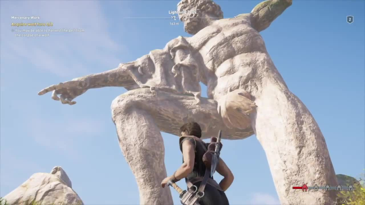 Assassin S Creed Odyssey Censored Covered Zeus Statue Middle East
