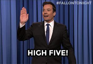 High Five, Jimmy Fallon, High Five GIFs