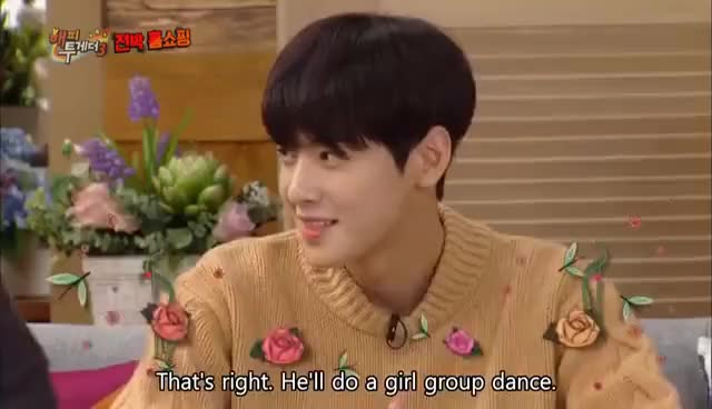 Watch and share Perfect Face, ChaEunwoo's Girlgroup Dance Skill [Happy Together / 2016.10.20] GIFs on Gfycat