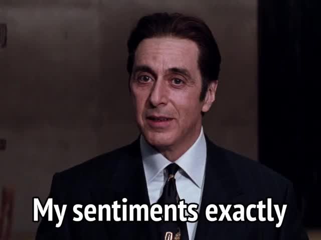 Watch this al pacino GIF by MikeyMo (@mikeymo) on Gfycat. Discover more al pacino, celebs, exactly, i agree, the devil's advocate, you're right GIFs on Gfycat
